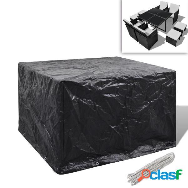 vidaXL Set mobili in polirattan 1 tavolo 4 sedie 4