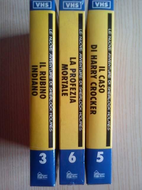 3 VHS Sherlock Holmes - Hobby&Work (nuove ancora nel