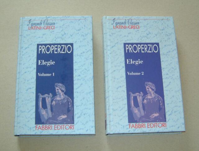 PROPERZIO - Elegie Vol. 1 & 2