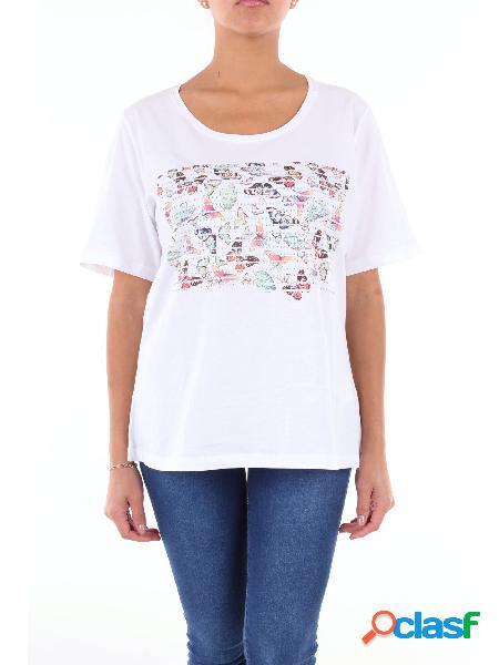 Luisa Viola t-shirt a maniche corte di colore bianco