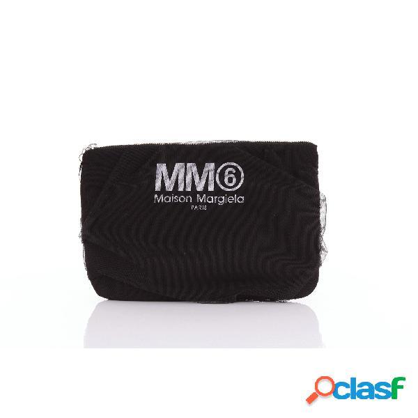 MM6 Maison Margiela pochette in tulle di colore nero