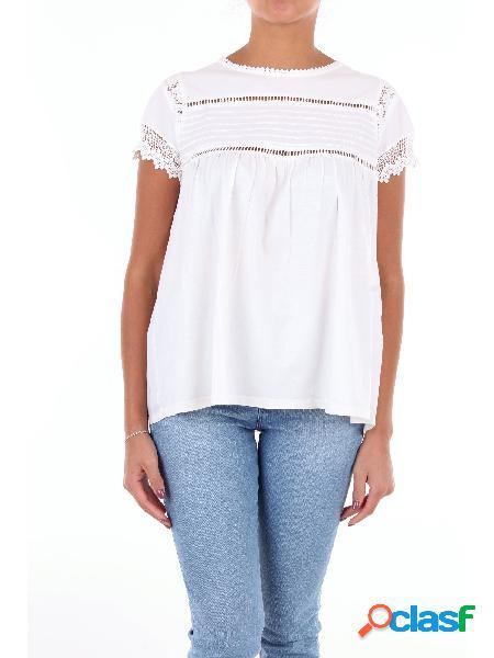 Semicouture t-shirt maniche corte di colore bianco