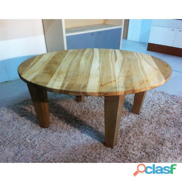 Tavolo rotondo massello grezzo D 100 cm