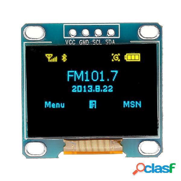 0.96 Pollici Modulo di Display OLED Blu Giallo IIC I2C a 4