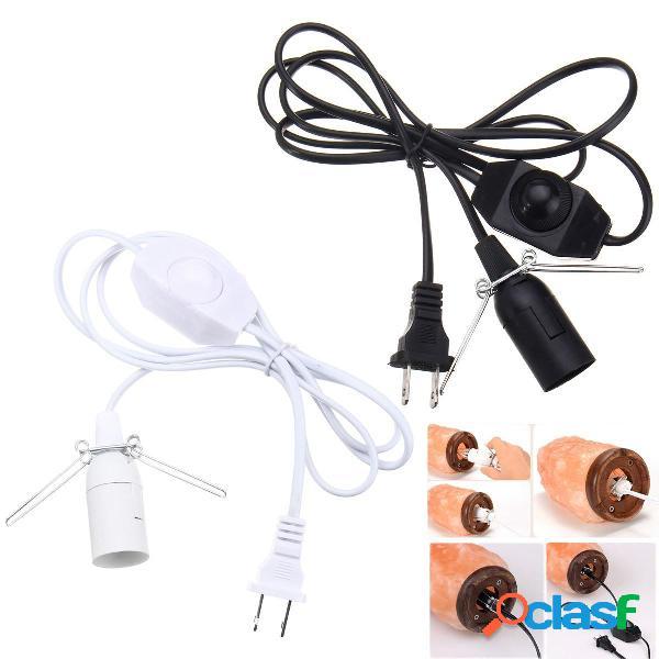 1.5M E12 Bulb Adapter US Spina con cavo dimmer Switch per