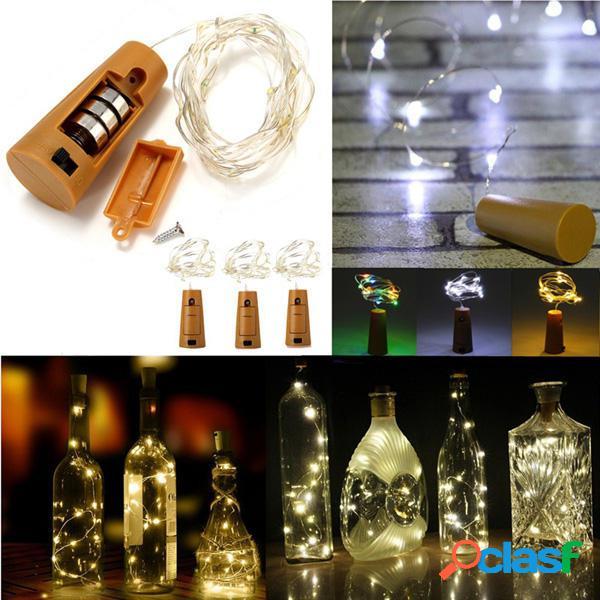 10 LED a Forma di Sughero LED Luce Notturna Stellata