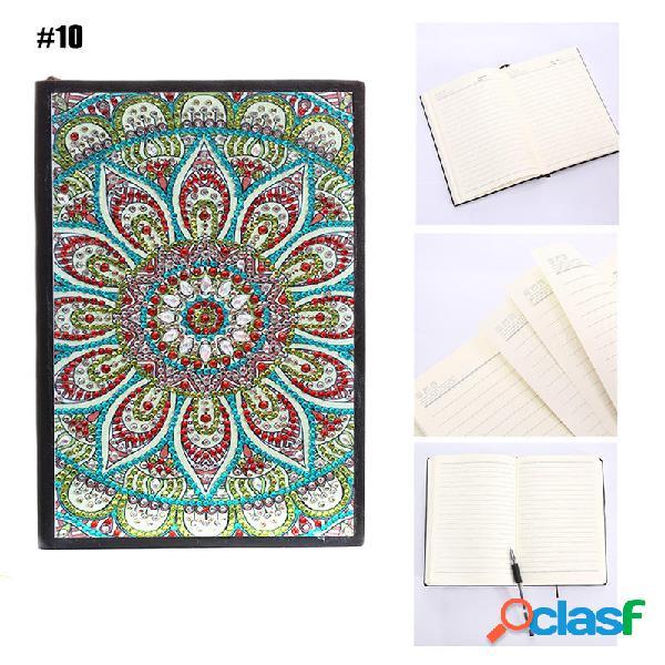 10 stili 80 pagine A5 Notebook DIY Diamante Pittura Blocco