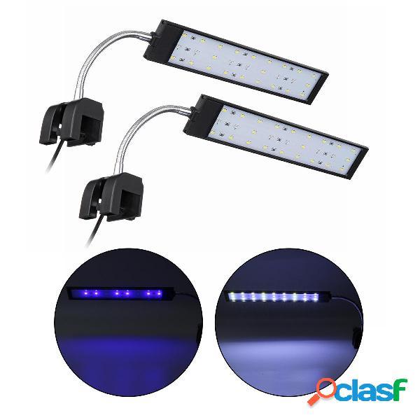 100-240V 10W Clip-on LED Acquario leggero per acquario