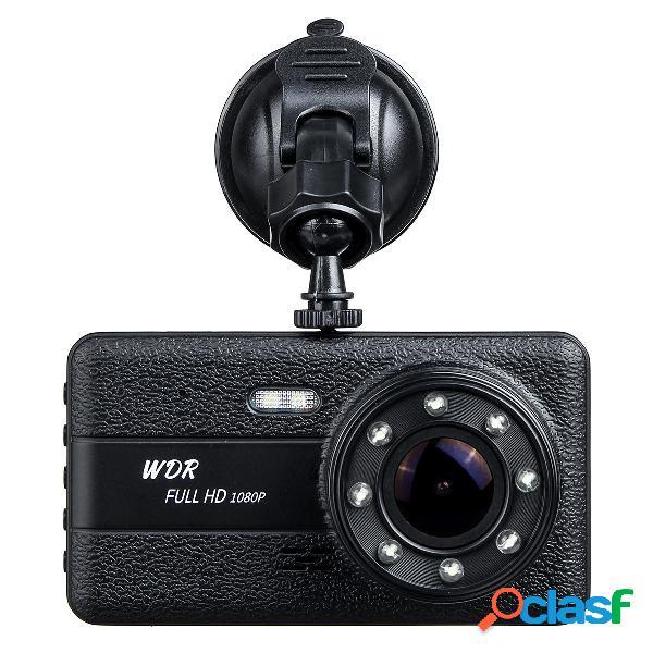 1080P Night Vision Dual lente Car DVR Dash Cam Video