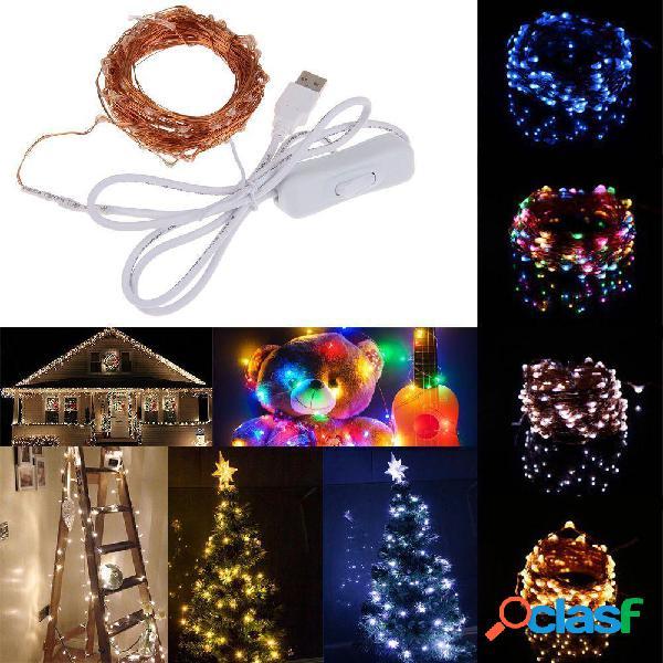 10M 100 USB impermeabile LED Fairy String Rame Cavo HoliDay