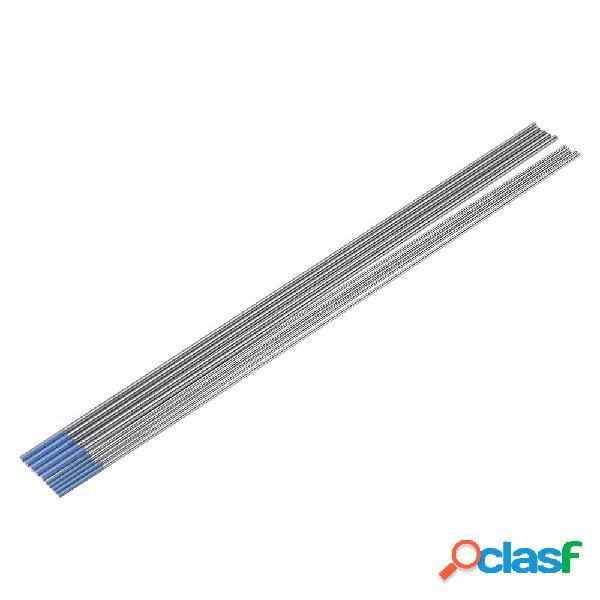 10pcs Tungsten WL20 Blue Tip TIG elettrodo 1.0 / 1.6x150mm