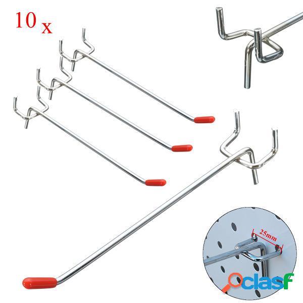 10pcs in acciaio inox display ganci a parete per pannello