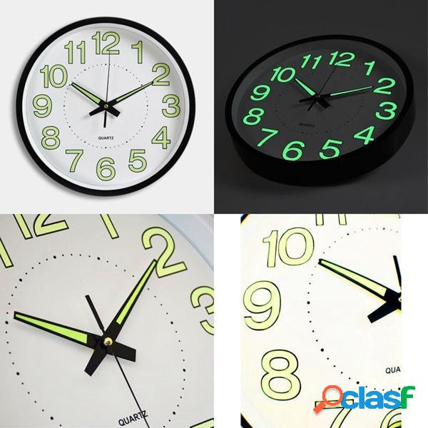 """12 """"12 Pollici Luminoso orologio da parete Bagliore al buio"""