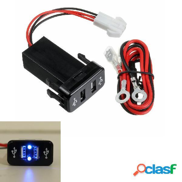 12 / 24V Caricabatteria da auto doppio USB Adattatore rapido