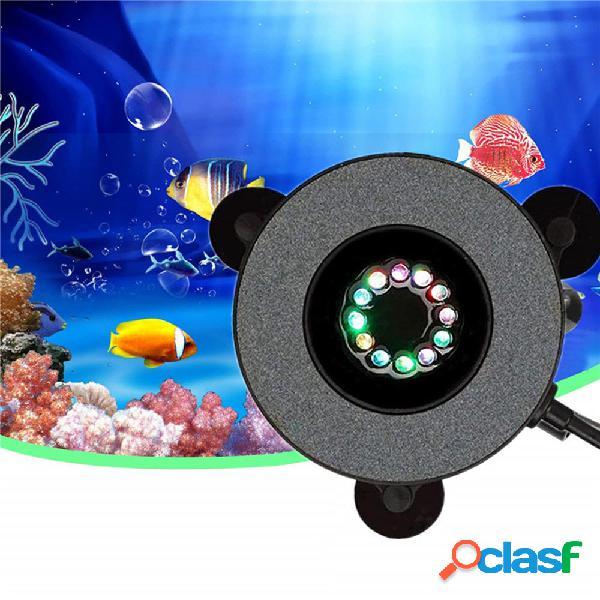 12 LED Pompa sommergibile per acquario in pietra a bolle
