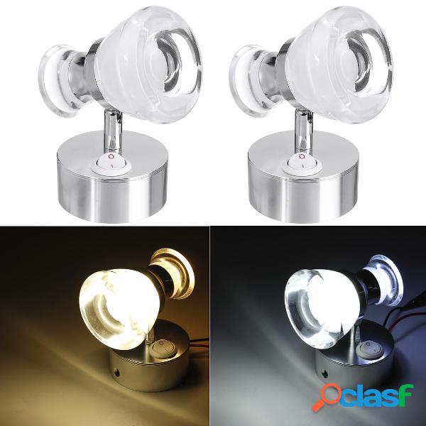 12V Double Head LED Lettura luci spot Comodino lampada per