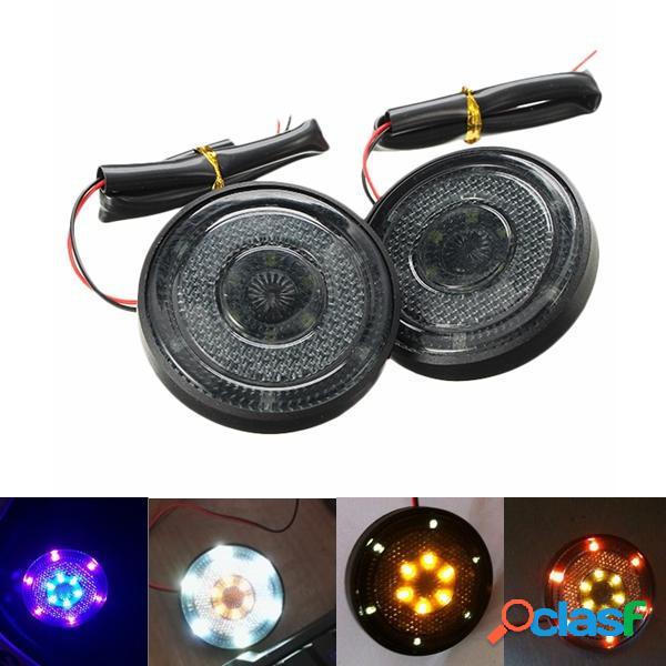12v moto LED luci DRL teli di luce di segnale rotondo