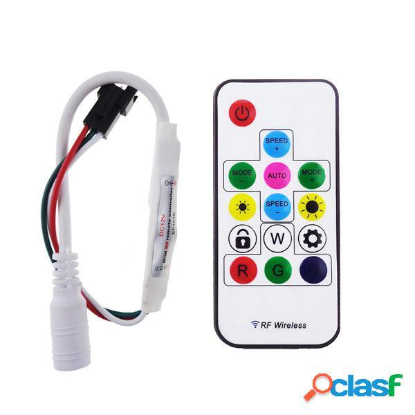 / 12v ws2811 rf LED striscia luminosa wireless mini -