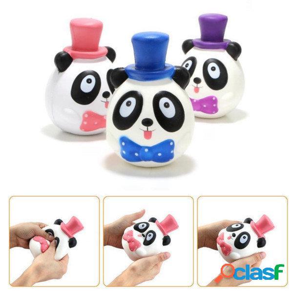 1PC 14CM Jumbo Panda Cake Squishy Charm Soft Lento aumento