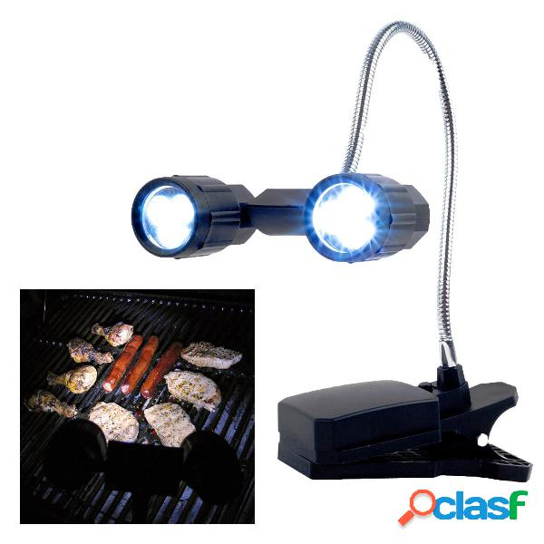 1W 6 LED Regolabile Barbecue Grill Light Yard Garden Outdoor