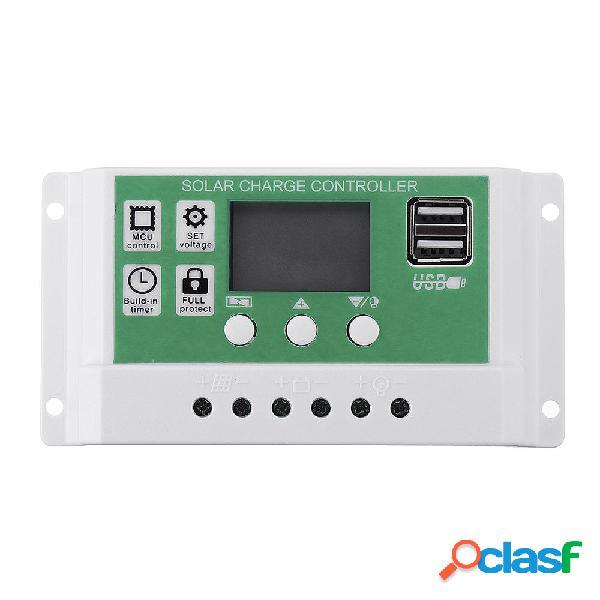 20/10/30A 12V 24V Auto Dual USB solare Regolatore di carica