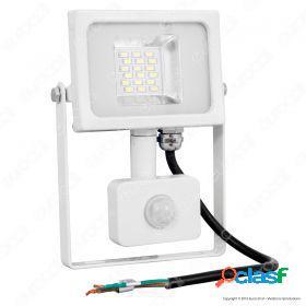 20W LED SMD Floodlight Sensor White Body 4500K