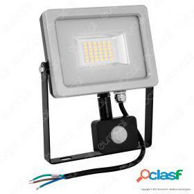 20W LED Sensor Floodlight Black Body SMD 6000K