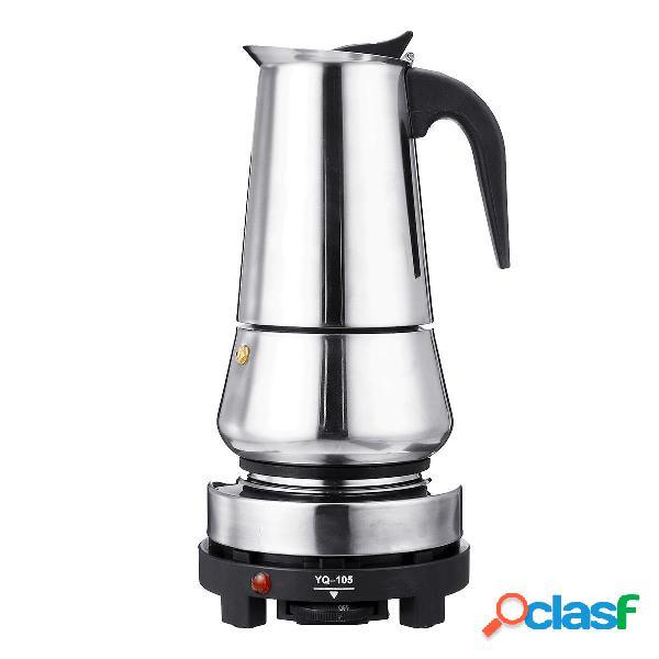 220V 500W 450ml caffettiera espresso portatile e stufa