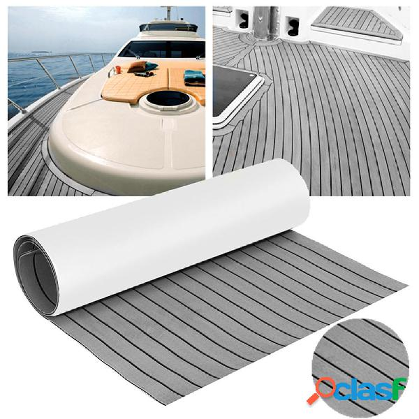 240 cm x 45 cm x 6 mm Grigio EVA Schiuma Teak Lenzuolo Yacht