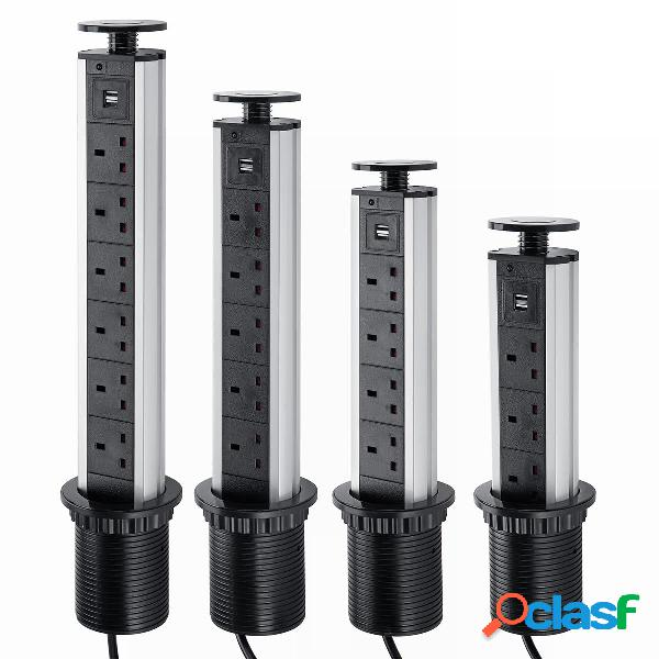2500W 16A UK Plug 3/4/5/6 presa di corrente Potenza 2.1A