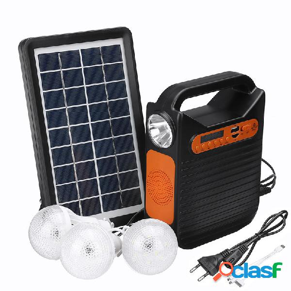 25W solare Kit luce di emergenza DC Power System System