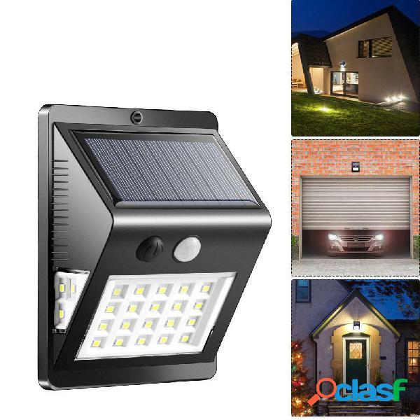 26LED solare Power Light PIR Sensore di movimento da parete