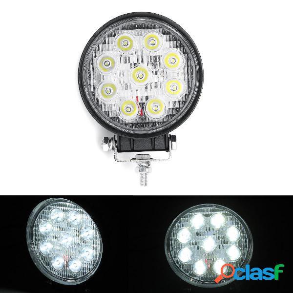 27W 9 LED Flood / Spot Beam Round Light Bar Ultra sottile