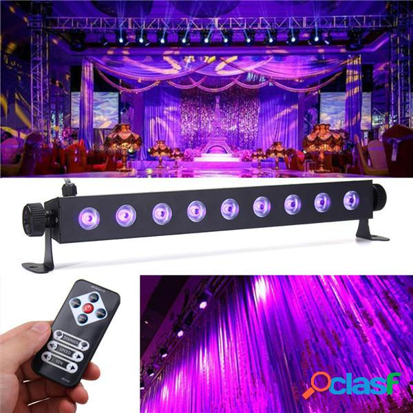 27W 9 LED UV 395-400NM remoto Control Stage Light Wall Wash