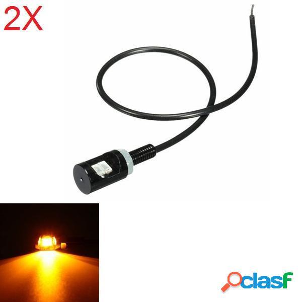 2pcs 12V DC LED luce targa bullone di vite della lampada