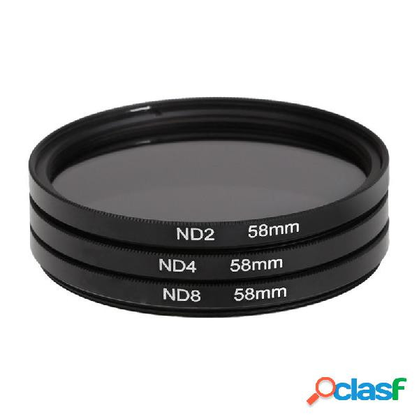 3 pezzi Lens Filter 58 millimetri ND2 ND4 ND8 densità