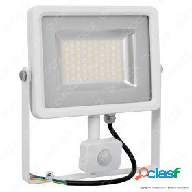 30W LED SMD Floodlight Sensor White Body 6000K
