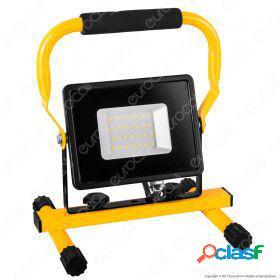 30W LED SMD Slim Floodlight with Stand And EU Plug Black