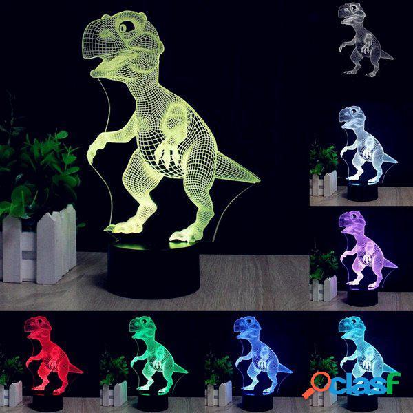 3D Dinosaur scrittorio del LED lampada da tavolo Colore 7