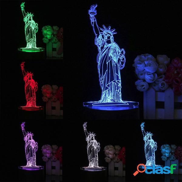3D New York City Statua della Libertà Remote Touch Colore 7