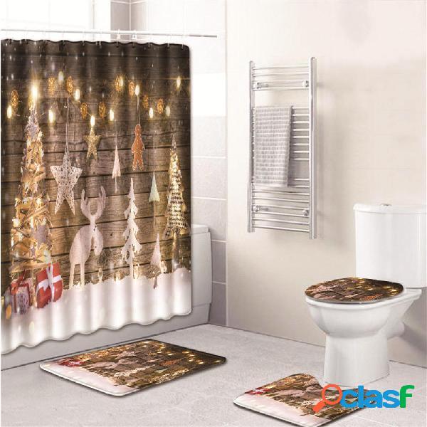 3PCS Set tappetino da bagno per bagno Coprisedile per WC