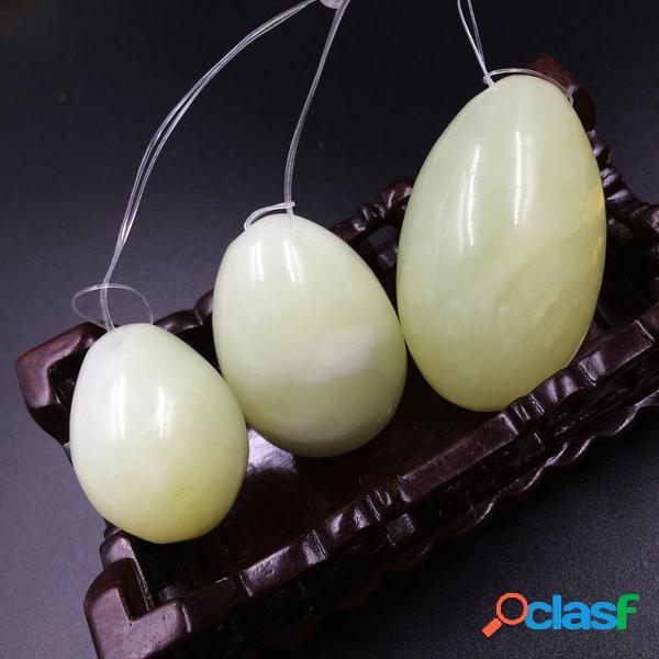 3Pcs Jade Stone Vaginal Balls Yonis Eggs For Exercises