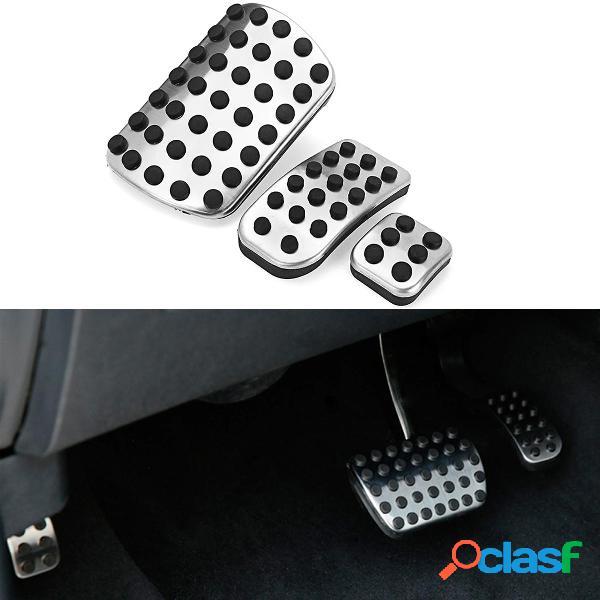 3Pcs Kit pastiglie freno a pedale per auto in acciaio per