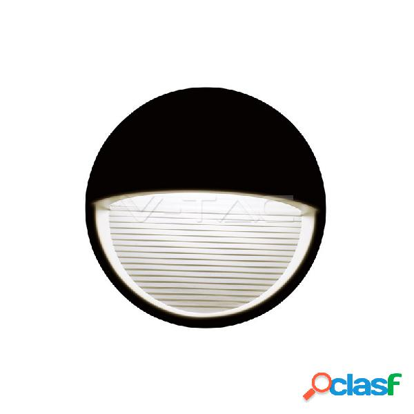 3W LED Step Light Black Body Round 4200k
