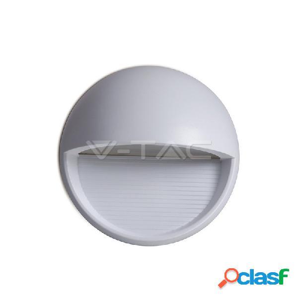 3W LED Step Light Grey Body Round 4200k