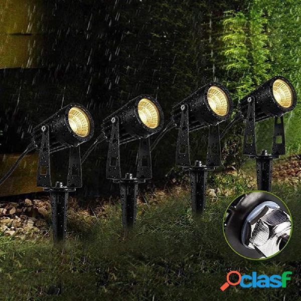 4 in 1 COB LED Spot da esterno per esterni con luce di