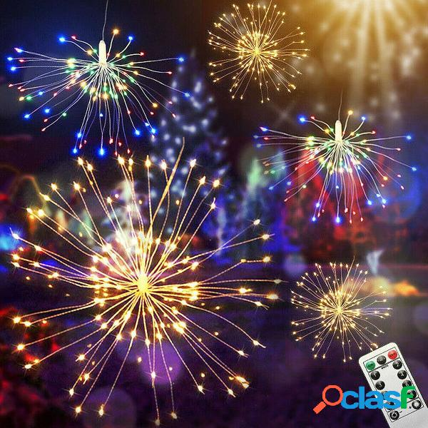 4 in1 USB LED Firework Fairy String Light 8 modalità remoto