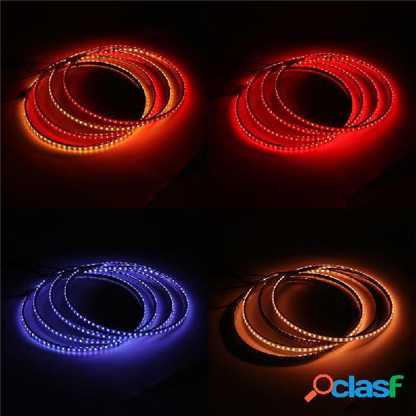 4 pezzi 15.5 Pollici auto generale 60 LED luci anello ruota