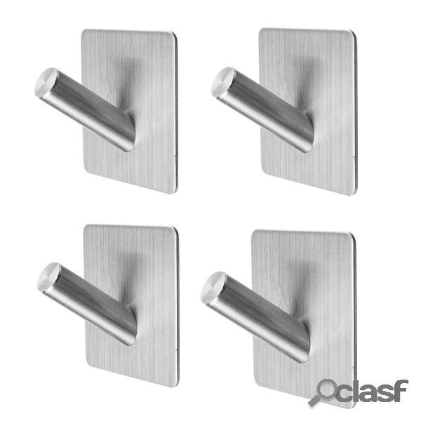 4 pezzi appendiabiti da parete in acciaio inossidabile