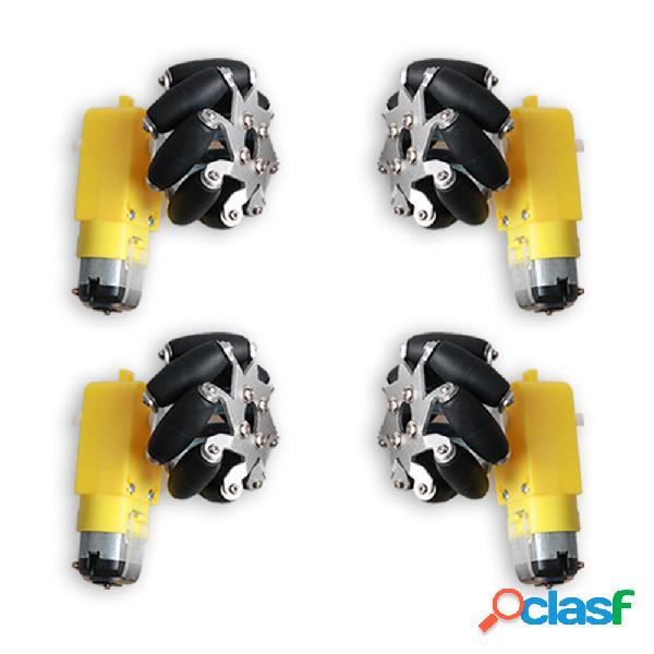 4PCS 50mm Omni Wheels con motore 1:48 TT per auto robot fai